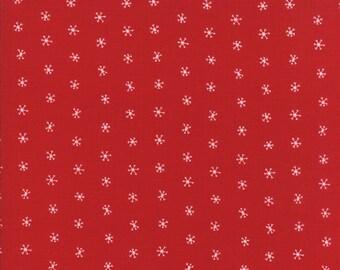 Gingiber Merriment Snowflakes - Berry (48275 12) for Moda Fabrics