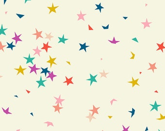 "Ruby Star Society Pop Zip -  Starfetti Cream Soda  by Rashida Coleman Hale - Novelty Children's Fabric - (RS1004 11) - 29"" remnant"