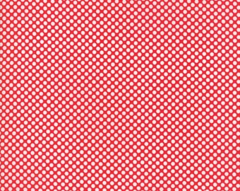 Vintage Holiday Flannel Red Dot by Bonnie & Camille  (55162 11F) - Flannel Polka Dot Fabric - Cut Options Available