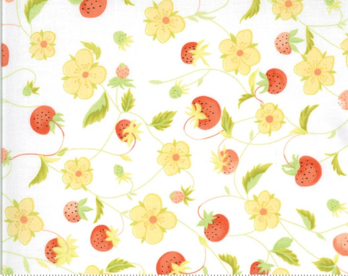 Chantilly Chantilly Raspberries by Fig Tree & Co. for Moda (20341-15)