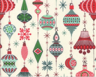Kringle Claus - Deck The Halls - Snow - (30591 11) - BasicGrey Kringle Claus for Moda Fabrics -  Cotton Quilting Fabric - Kringle Klaus