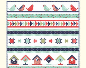 Song Bird Quilt Pattern (CW 1025) - Cotton Way Quilt Pattern, featuring Early Bird