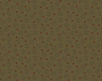 Lumberjack Aaron Green Evergreen Branches by Buttermilk Basin for Riley Blake Designs (C8701-GREEN) - Cut Options Available