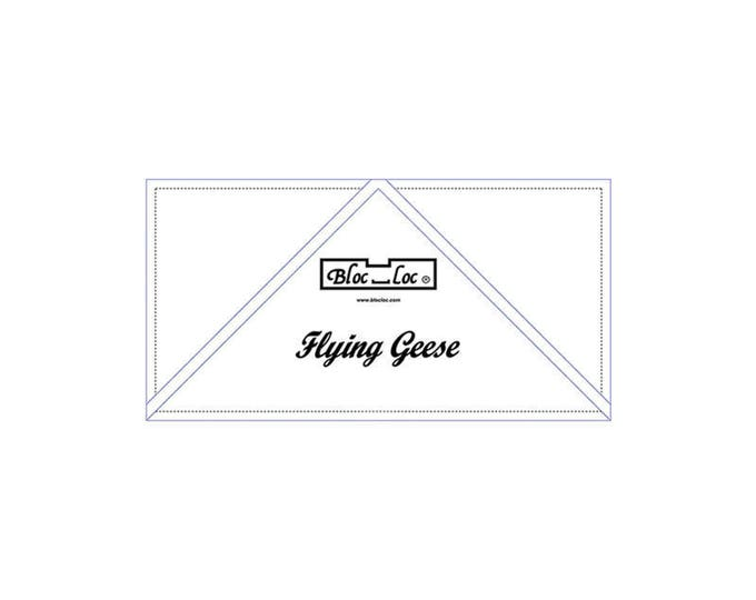 """Bloc Loc - Flying Geese Ruler  2 1/4 x 4 1/2"""" - Quilting Tool"""