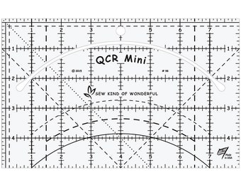 "Quick Curve Mini Ruler - Sew Kind of Wonderful - Quilting Tool - 4"" x 7"""