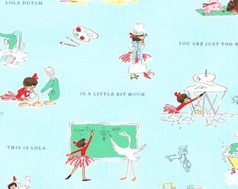 Lola Dutch A Little Bit Much in Cloud by Sarah Jane for Michael Miller - (DH8587-CLOU-D) - Lola Dutch Fabric