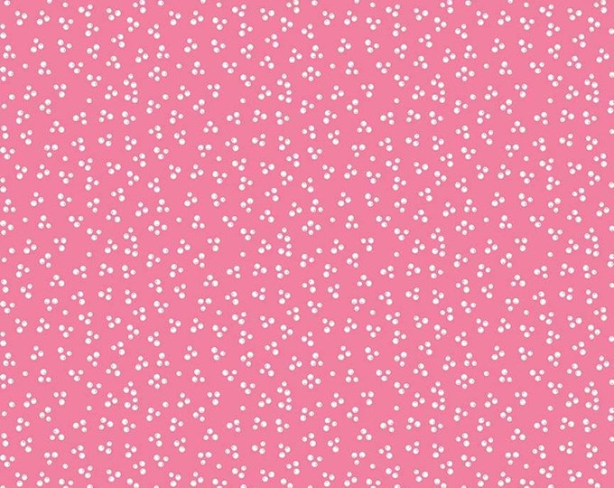 Lets Be Mermaids Tiny Bubbles Pink  (C7615-PINK) by Melissa Mortenson of Polka Dot Chair