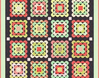 """Crochet Quilt Kit by Fig Tree & Co. Joann Figueroa, Packaged by Moda Fabrics (KIT20360) - 66"""" x 66"""""""
