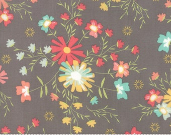 Sunnyside Up Floral Sugar Creek Shadow (Gray) by Corey Yoder (Little Miss Shabby) for Moda (29051 24)
