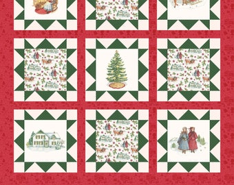 Anne of Green Gables Christmas Panel Cream (PD6496-Cream)