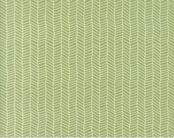 Sugar Pie (5044 16) Green Herringbone by Lella Boutique