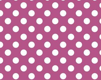 Riley Blake Designs, Medium Dots in Fuschia (C360 93)