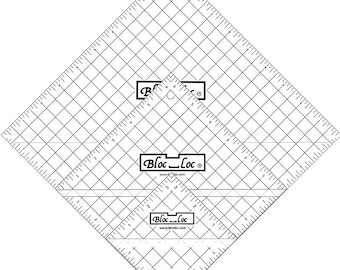 "Half Square Triangle Ruler Set 7 -  Set includes: 3.5"", 6.5"" & 9.5"" rulers."