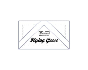 """Bloc Loc - Flying Geese Ruler 1"""" x 2"""" - Quilting Tool"""