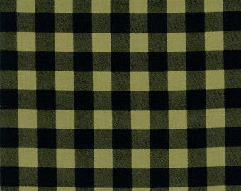 Overnight Delivery (5707 12) Green Black Buffalo Plaid by Sweetwater