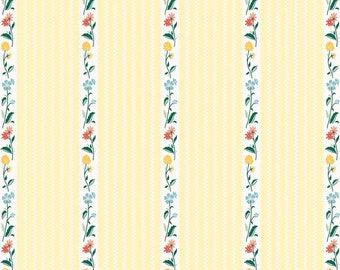Bunnies and Cream, By Lauren Nash Bunnies Stripe Yellow C6023-Yellow - Fat Quarter