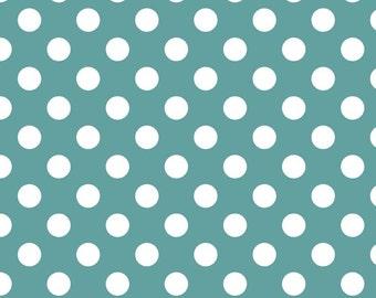 Riley Blake Designs, Medium Dots in Teal (C360 26)