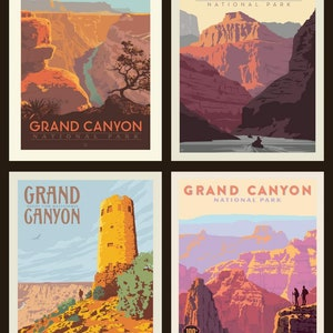 National Parks Posters From Riley Blake Designs Black Colorway Etsy