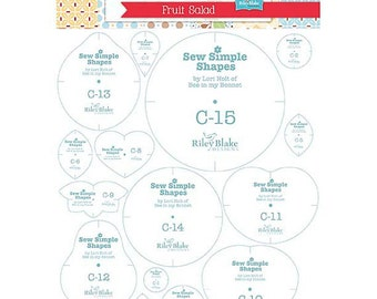 SALE!!  Fruit Salad - Sew Simple Shapes by Lori Holt of Bee In My Bonnet Template Rulers (ST-4814)