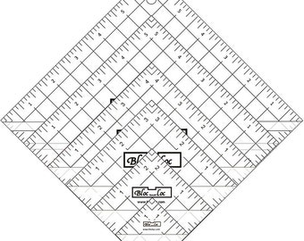"Half Square Triangle Ruler Set 1 -  Set includes: 1.5"", 2.5"", 3.5"", 4.5"", 5.5"", & 6.5"" rulers"