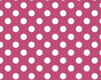 Riley Blake Designs, Medium Dots in Raspberry (C360 91)