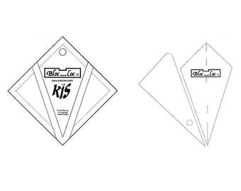 "Bloc-Loc -  Kite in A Square Ruler 3"" x 3"" - Quilting Tool"
