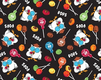 It's Tootsie Roll Time - Owls Black C6811-BLACK