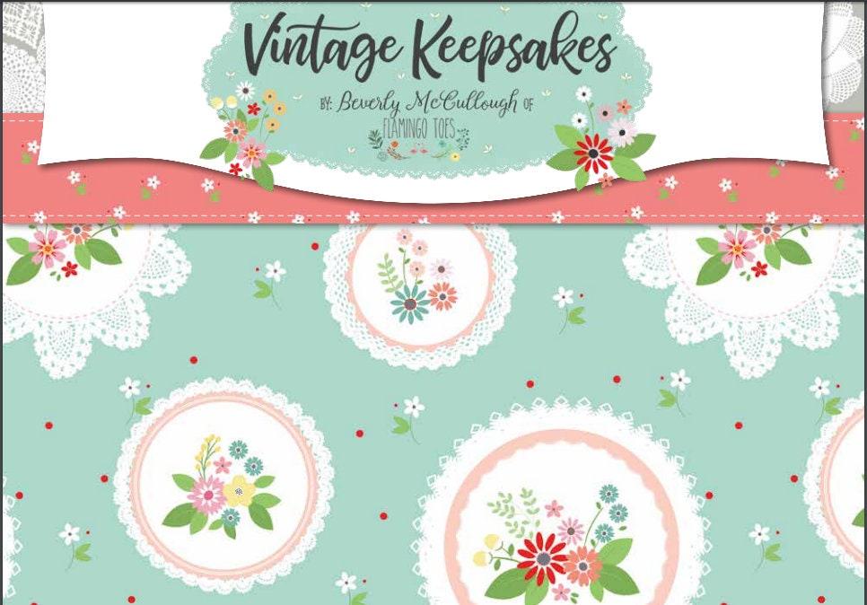 PRÉCOMMANDE: Souvenirs Vintage par Beverly Beverly Beverly McCullough de flamant roses orteils pour Riley Blake Designs - Bundle Cour - ensemble complet c31c11