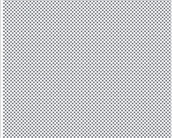 Kisses on Navy on White (C220) - Riley Blake Designs