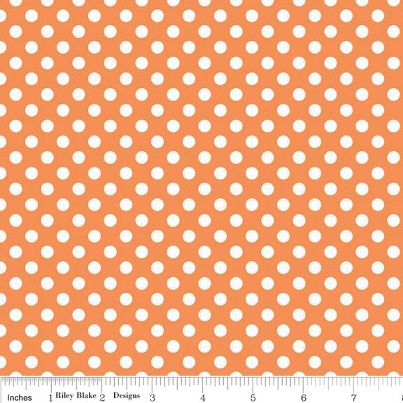 Cut Options Available C350 60 Orange Small Dots by Riley Blake Design