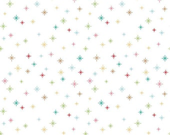 Cozy Christmas Cozy Sparkle by Lori Holt for Riley Blake Designs (C5365-White) - Christmas Fabric - Cut Options Available