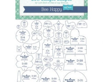 Bee Happy Shapes by Lori Holt of Bee In My Bonnet Template Rulers