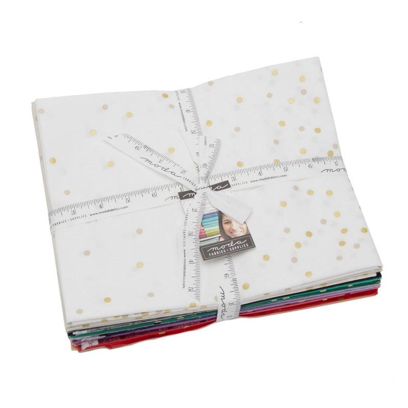 Ombre Confetti Metallic Dot Half Yard Bundle New Colors by V and Co for Moda Fabrics 17 Fabrics 10807HYMN