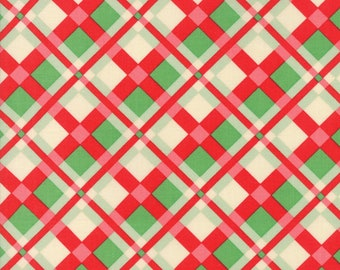 Swell (31122 11) Red Green Plaid by Urban Chiks