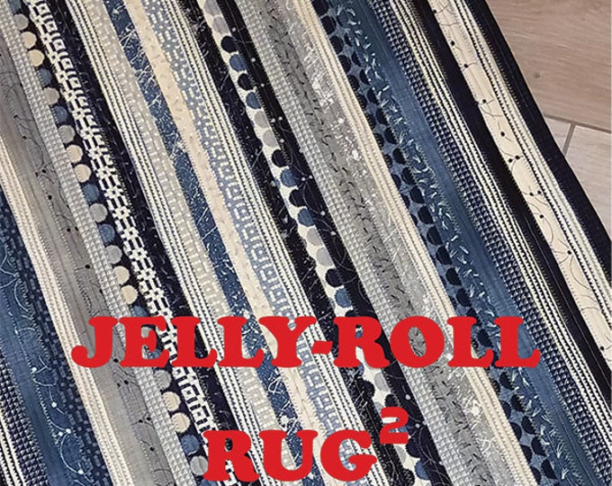 Featured listing image: Jelly Roll Rug 2 - Pattern by RJ Designs (RJD 120)