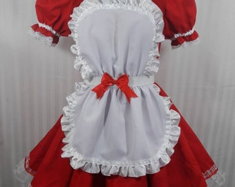 Lolita babydoll maid lolita cosplay dress adult--small to plus size choose  color 5addc7781361