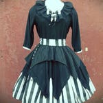 VK Freakshow Babydoll goth visual kei Jackie skeleton Halloween costume dress plus size