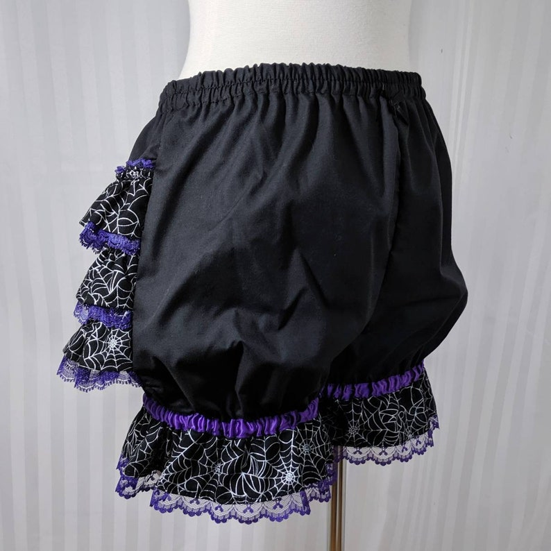 Spiderweb witch fancy ruffle short mini bloomers gothic goth image 0