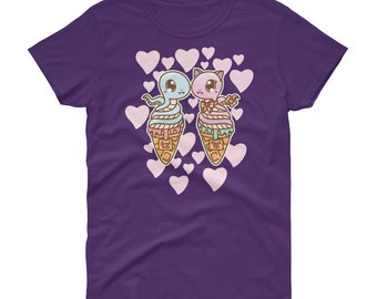 Kawaii sweet tooth snake cones fairy kei decora short sleeve t-shirt tee adult--small to plus size choose color
