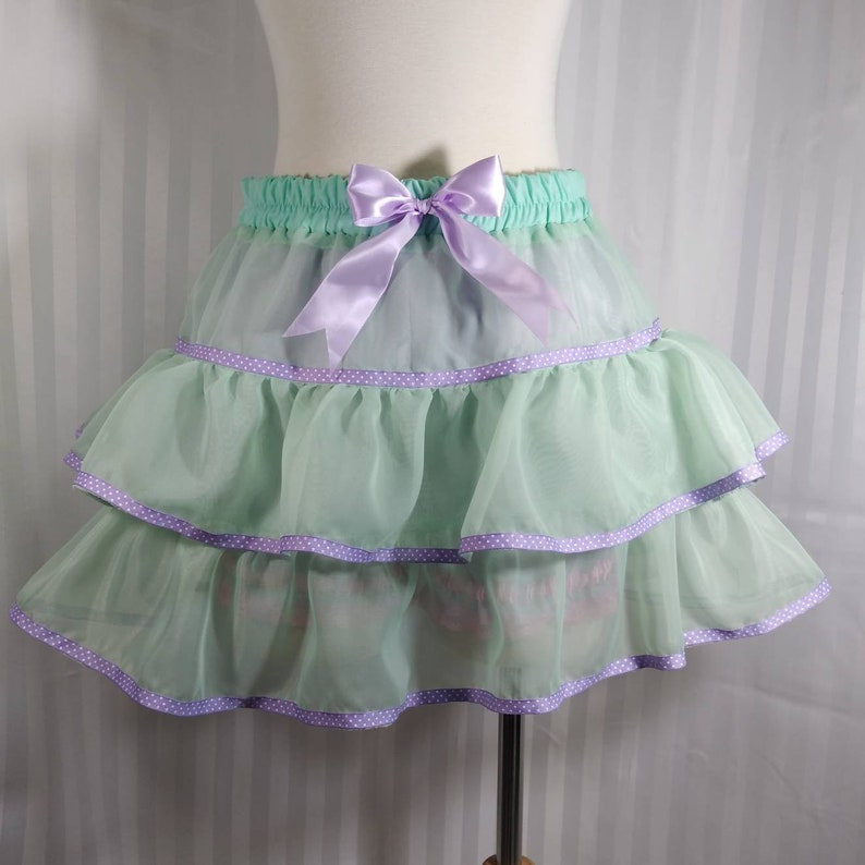 Mint pastel tutu skirt fairy kei pastel fashion lolita image 0