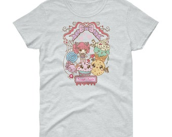 Army of Cute sweet treats kawaii chibi girl fairy kei decora short sleeve t-shirt tee adult--small to plus size choose color
