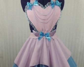 Pastel pink heart angel wings skirt romper fairy kei pastel fashion lolita small-plus size