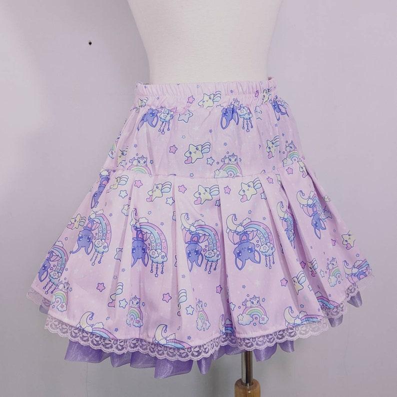 Pink galaxy bat skirt fairy kei sweet pop lolita small to plus image 0