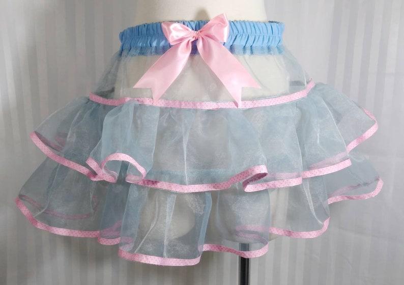 Light blue pastel tutu skirt fairy kei pastel fashion lolita image 0