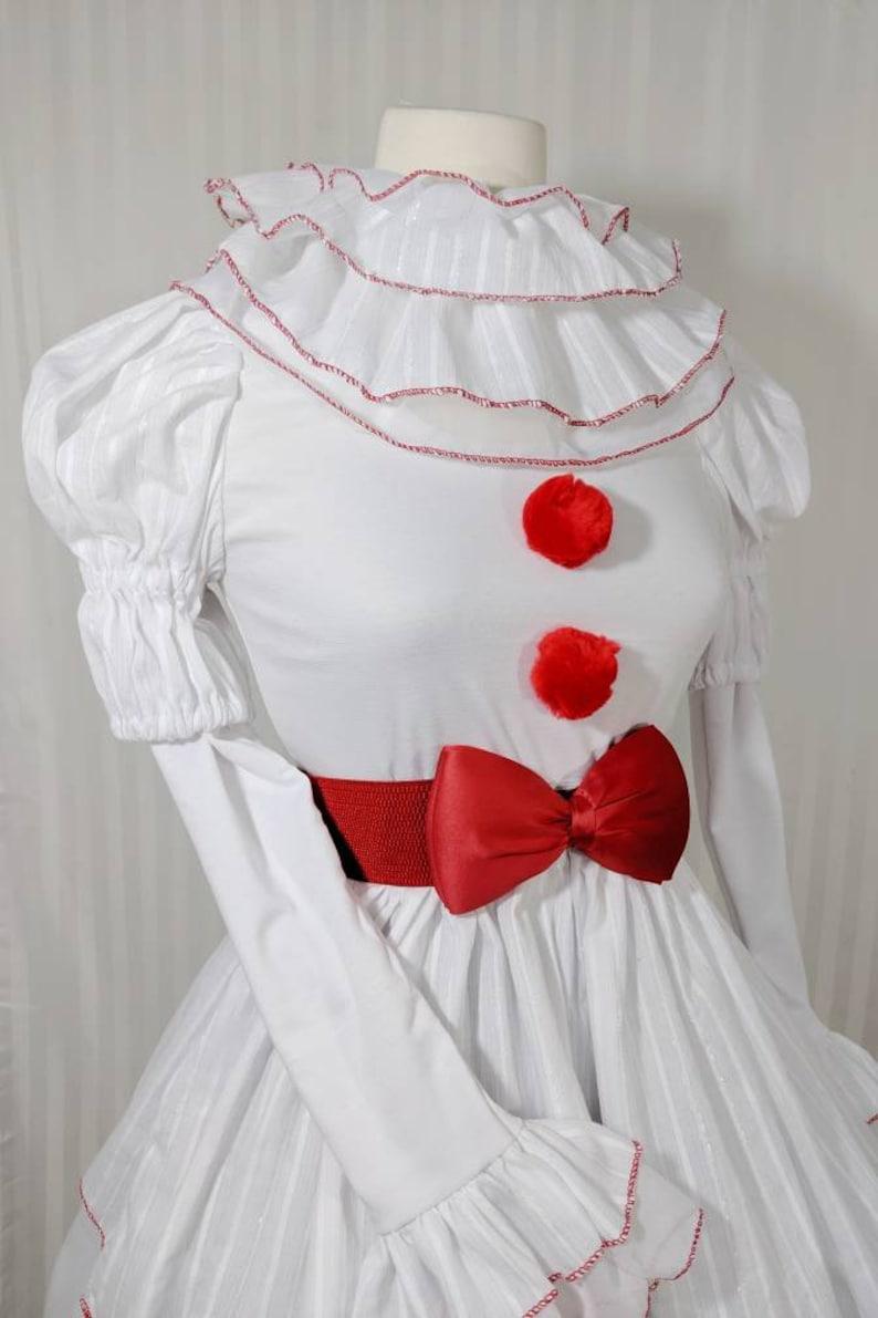 VK Freakshow Babydoll white clown Halloween costume dress image 0