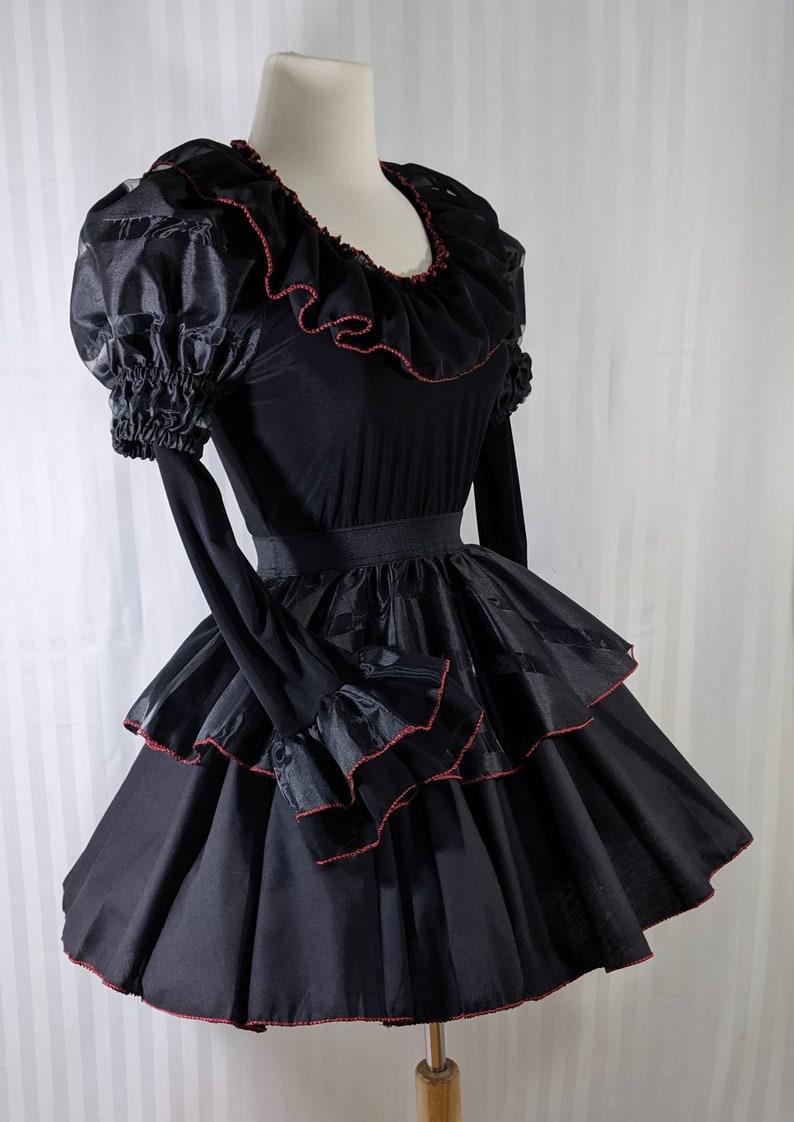 vk freakshow halloween costume babydoll black clown dress image 0