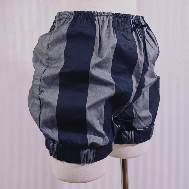 Grayscale large stripe pumpkin shorts micro mini bloomers image 0