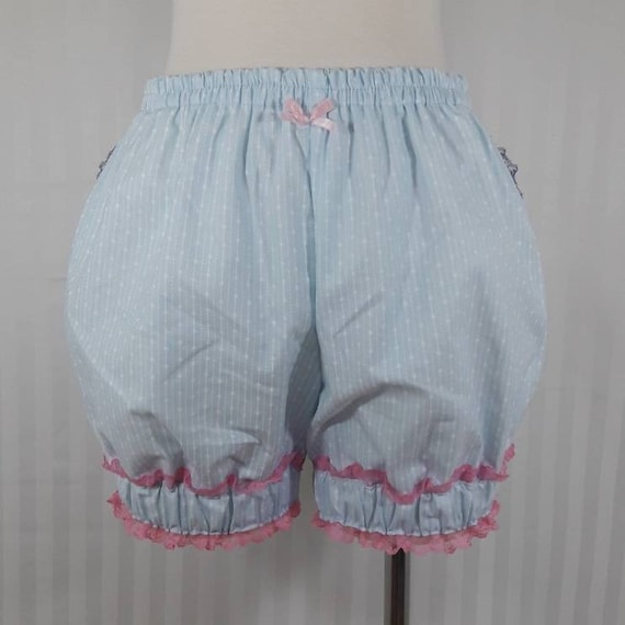 Light blue sweet lolita short bloomers  adult--small to plus size