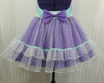 Pastel purple mint angel wings tutu skirt fairy kei pastel goth fashion lolita small-plus size