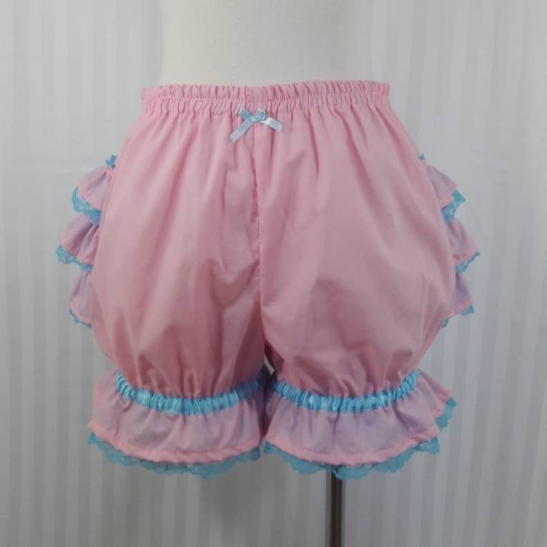 Pink fancy ruffle short mini bloomers fairy kei decora pop image 0